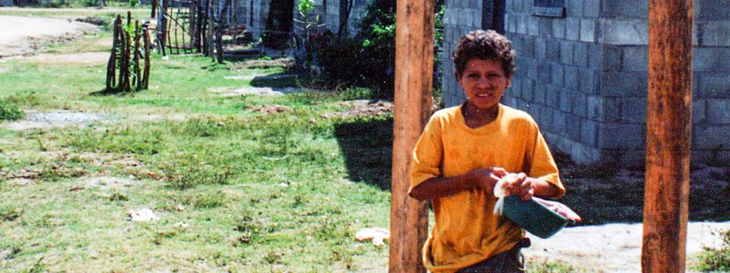 Nueva Esperanza, an NPH emergency aid and housing program, opens for victims of Hurricane Mitch in Honduras in 1998