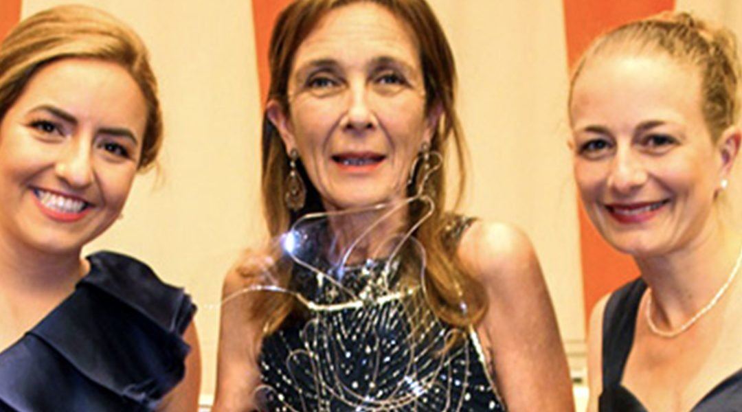 Dr. Pilar Silverman, Director of Medical Services for NPH International, awarded the United Nations Women Together Award.